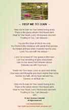 HELP ME TO LEAN
