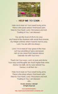 HELP ME TO LEAN