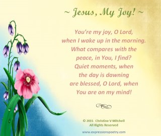 JESUS, MY JOY