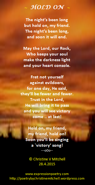 Poems Of Faith And Comfort Christine S Poetry Blog